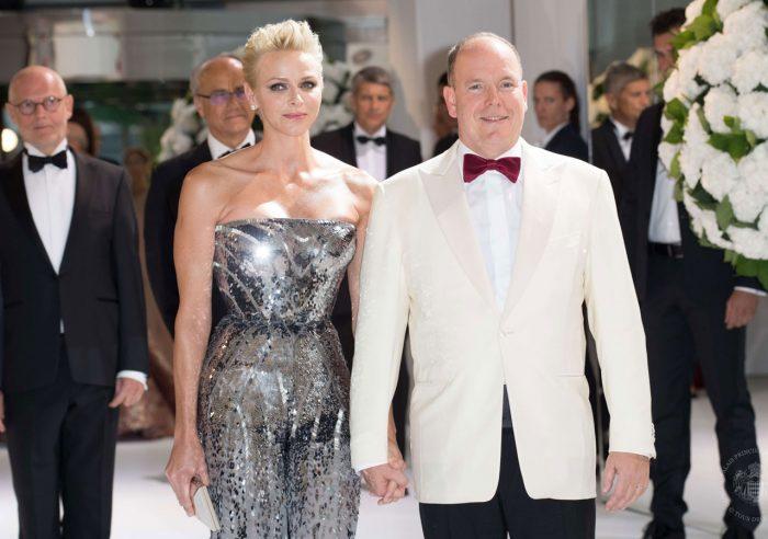 Furst Albert och furstinnan Charlene.