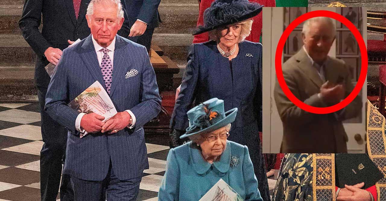 Prins Charles skymtade förbi på Instagram.