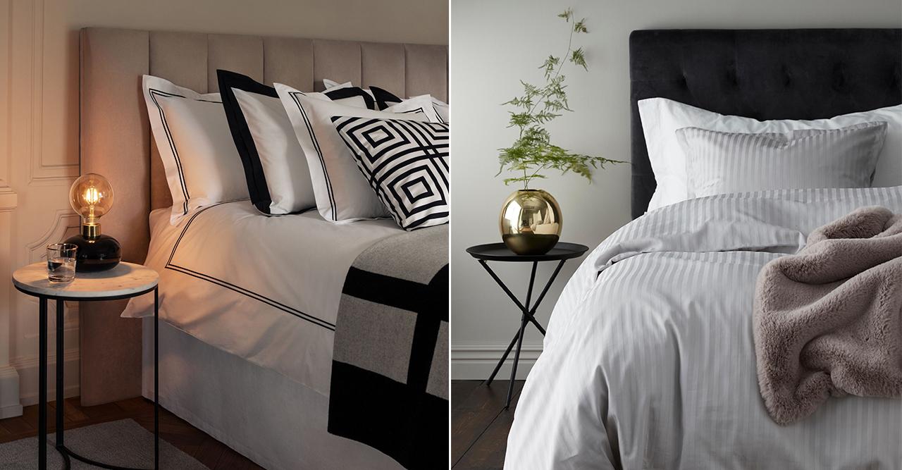 Sängkläder som ger hotellstil i sovrummet – 11 snygga köp