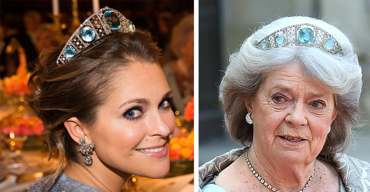 Prinsessan Madeleine och hennes faster prinsessan Margaretha.