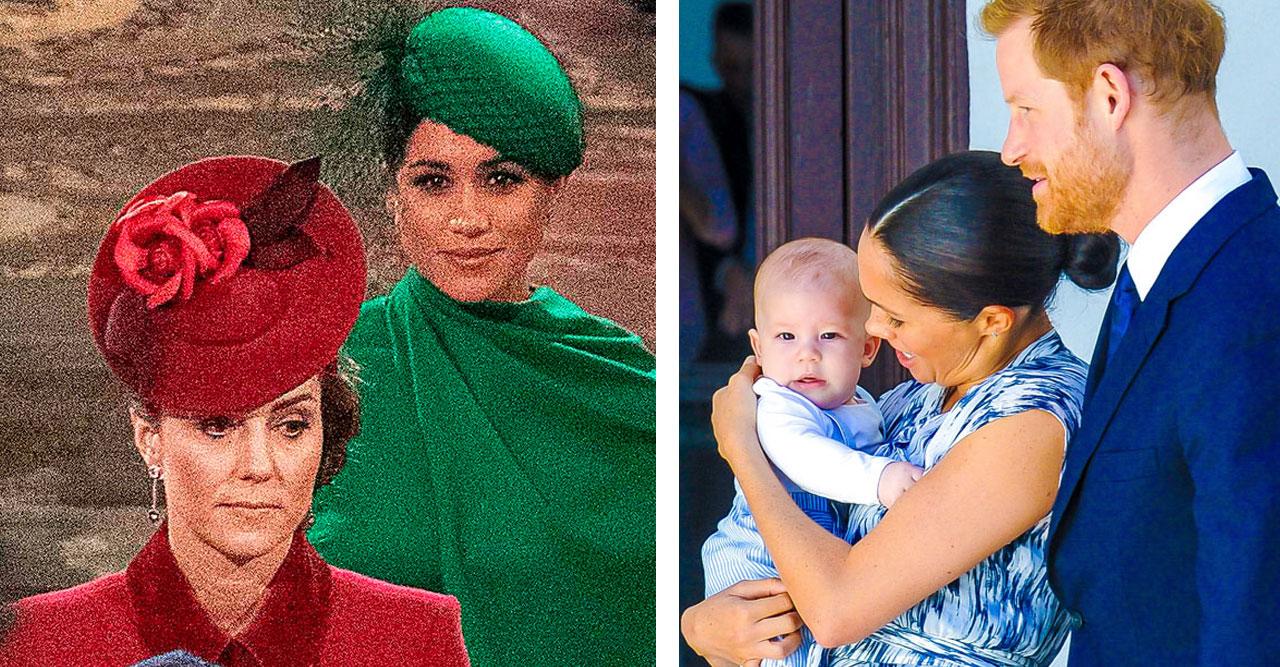Meghan och Kate såg inte så kärvänliga ut under Commonwealth Day.