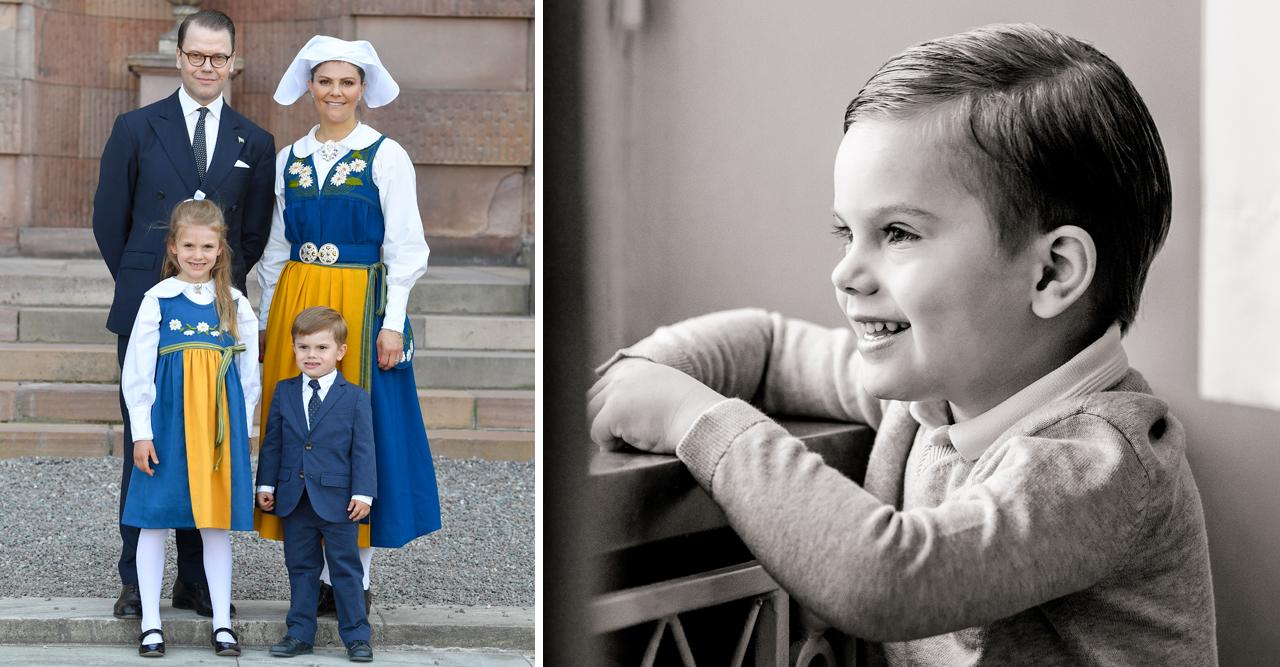 Grattis prins Oscar 4 år – se nya bilden