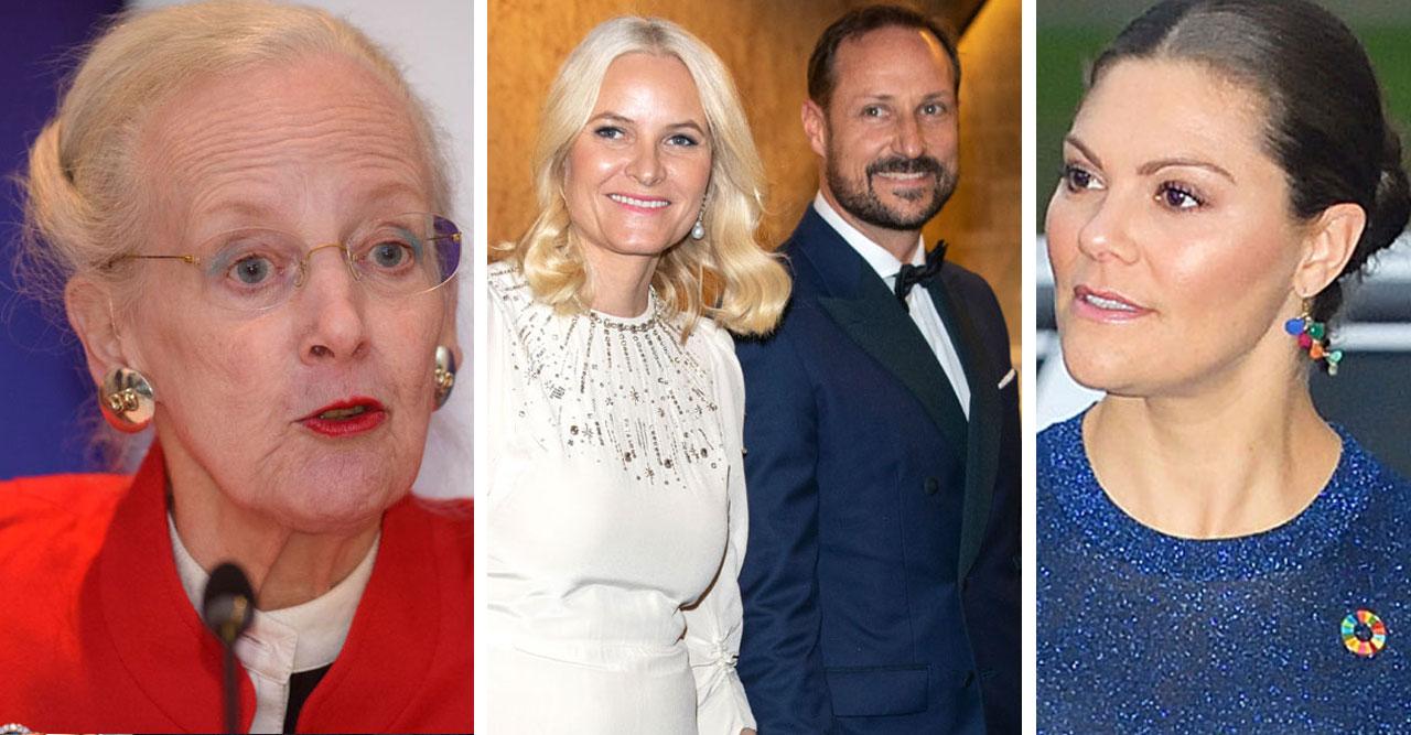 Det är tuffa tider för Margrethe, Mette-Marit och Haakon, och Victoria.