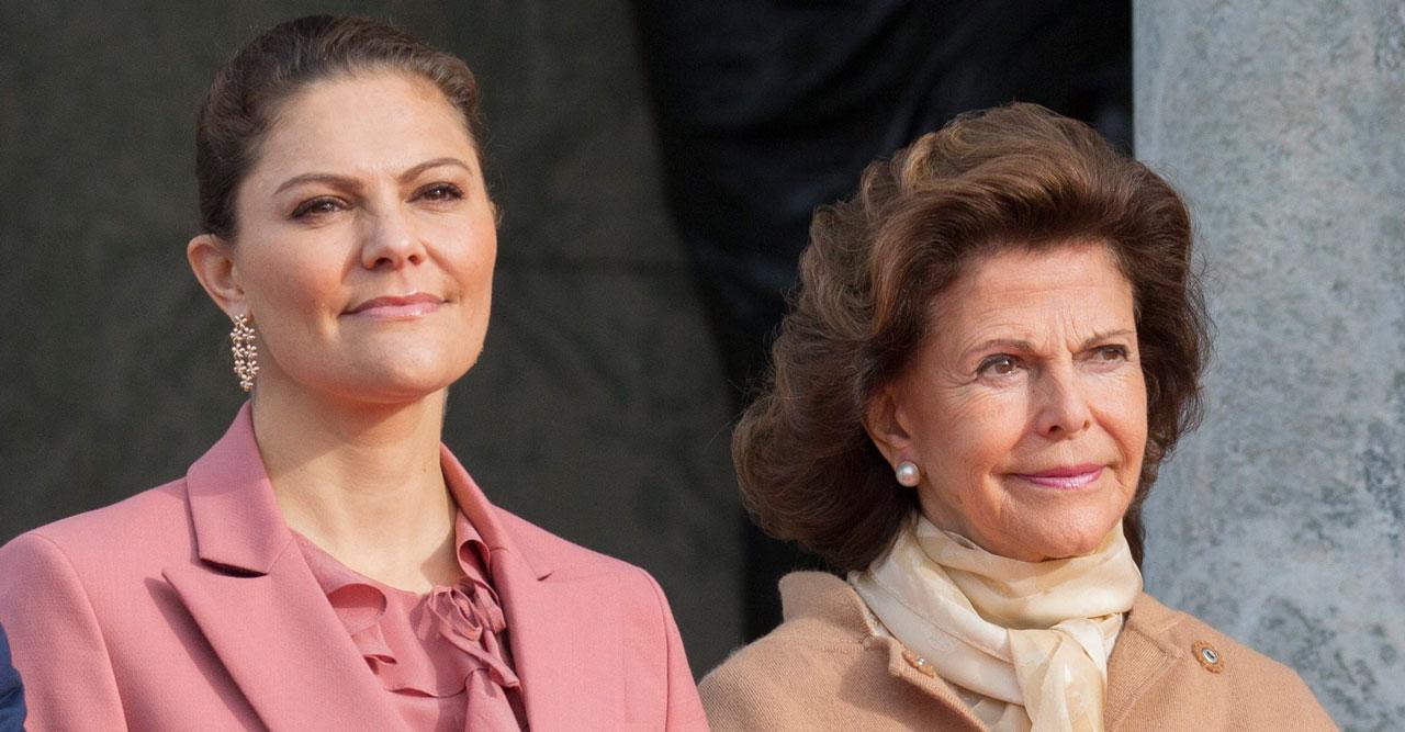 Kronprinsessan Victoria och drottning Silvia.