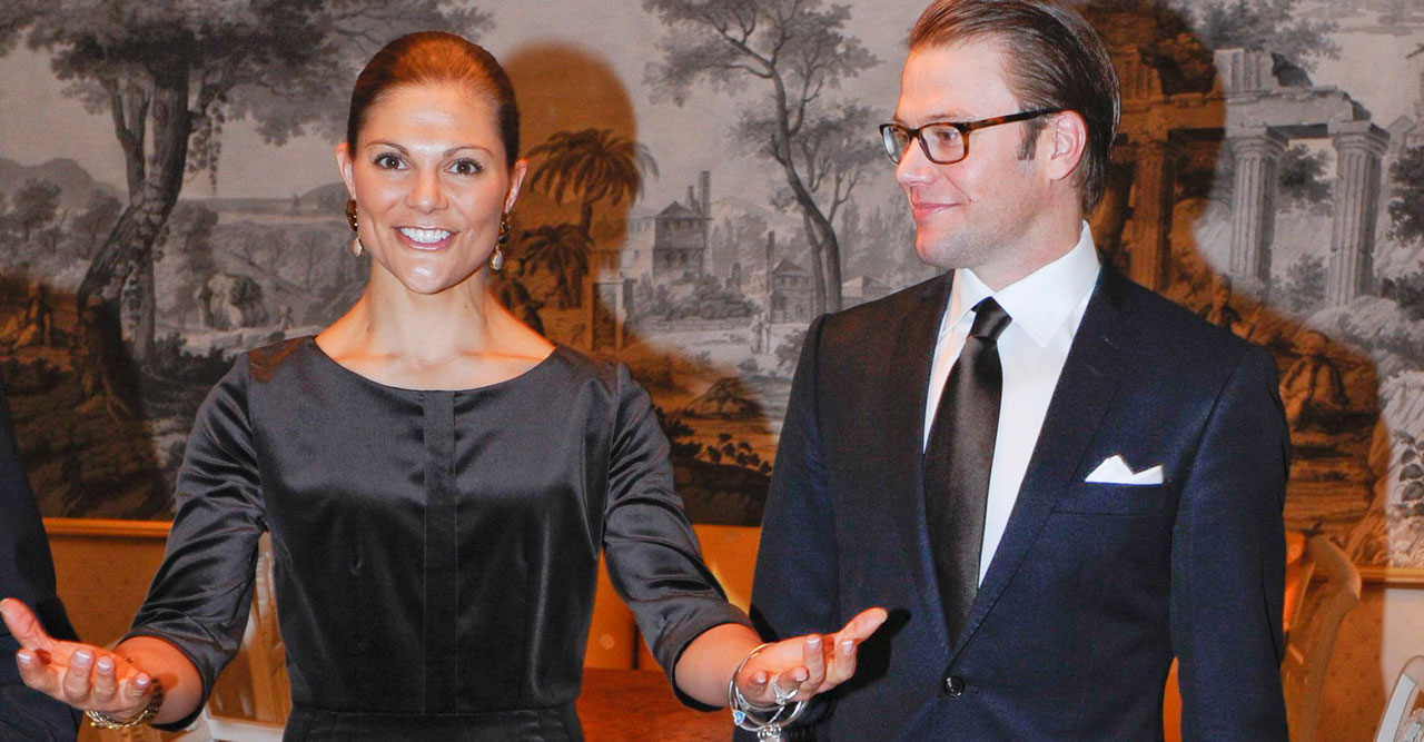 Kronprinsessan Victoria och prins Daniel på residenset i Luleå.