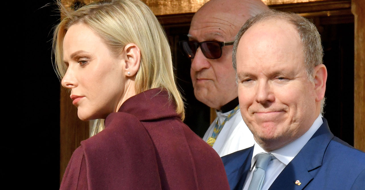 Furst Albert till Sverige men Charlene stannar i Monaco.