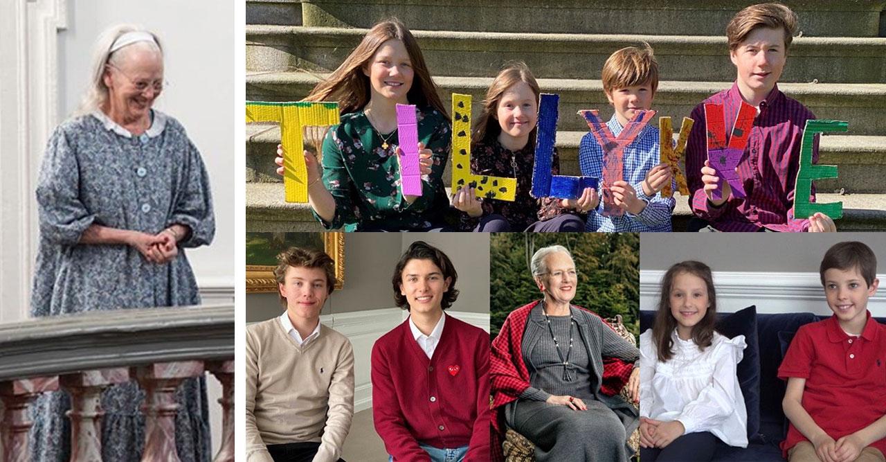 Drottning Margrethe 80 år: Barnbarnens fina hyllning