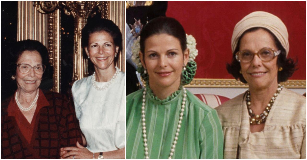 Drottning Silvia och Alice Sommerlath.