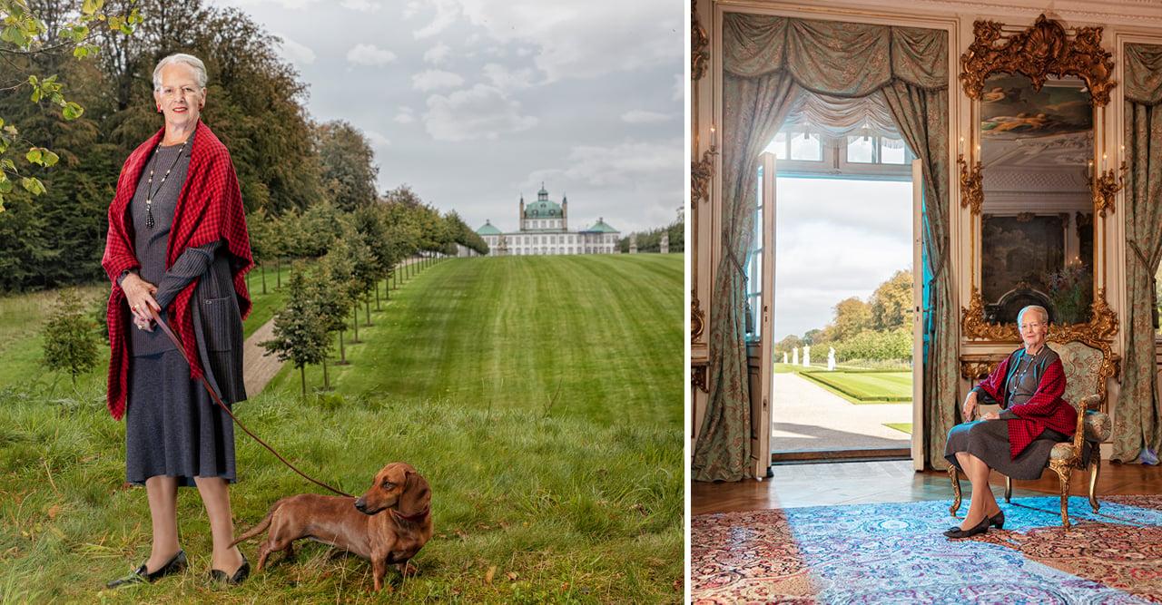 Så bor drottning Margrethe! Titta in i slotten!