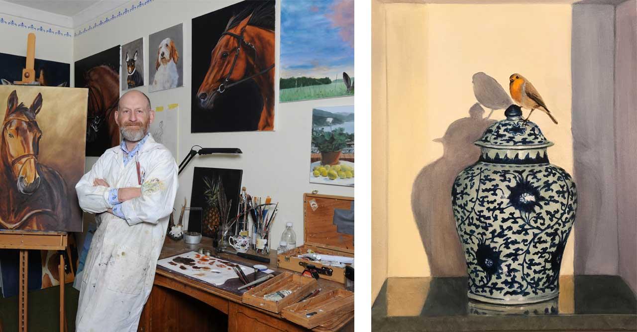 Vi träffar konstnären Georg Strömfelt: Det har hänt att pensel och duk har åkt ut genom fönstret
