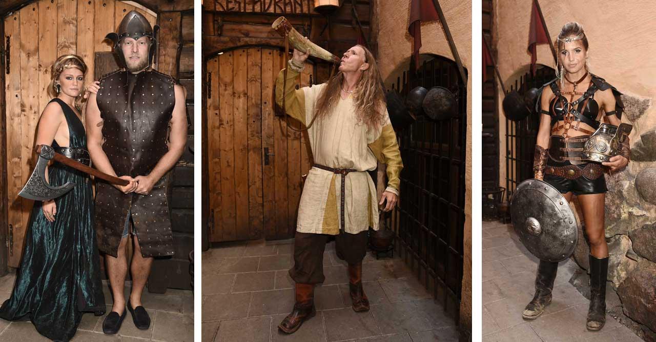 Stjärnskådisar, modeller och rockers på vikingafest!
