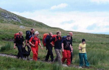 Prins William tog med hemlösa på en bergsvandring