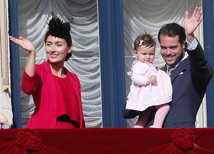Rosett i håret även på prinsessan Amalia