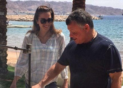 Drottning Rania berättar om sonens födelsedagsfest