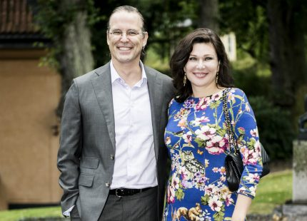Anders Borg och Dominika visade upp kärleken