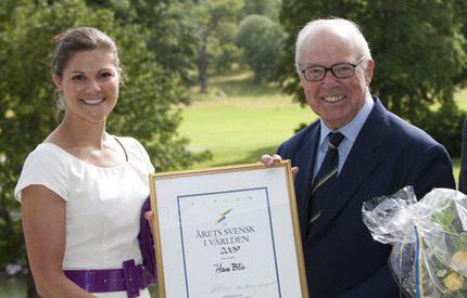 Victoria hedrade Årets svensk i världen Hans Blix