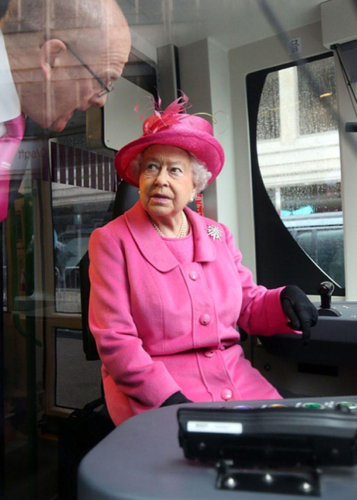 Drottningen fick ha hela vagnen för sig själv