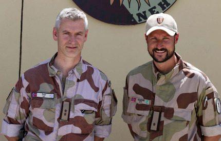 Haakon på hemlig inspektionsresa i Afghanistan
