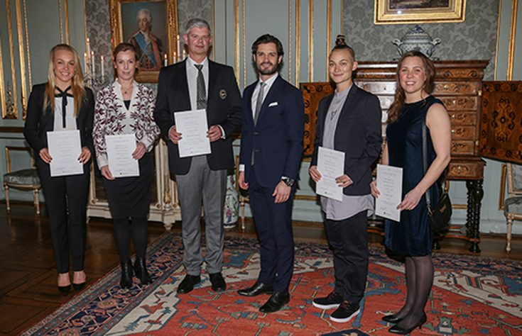 Prins Carl Philip prisade duktiga idrottare