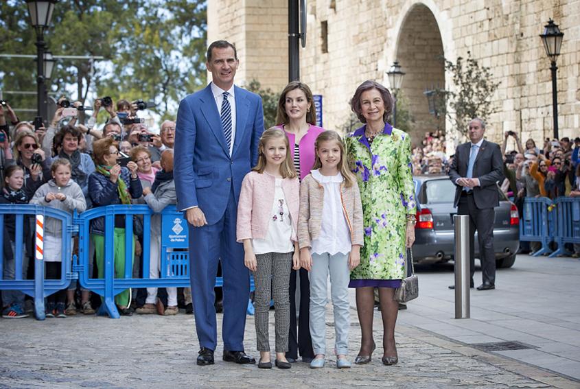 10 bilder från drottning Letizias påskfirande med barnen