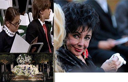 Michael Jacksons rörande begravning