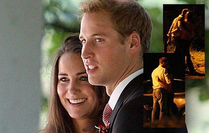 Bildspel! Prins William och Kate visar öppet sin kärlek