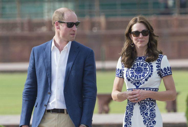 Kate och William överraskade under dagen