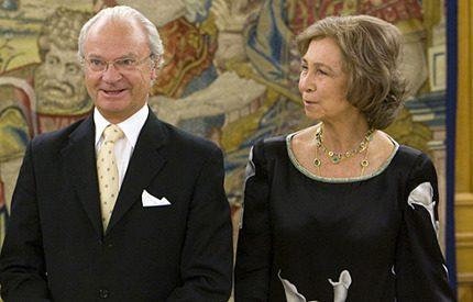 Kung Carl Gustaf trivs <br>i Spanien…