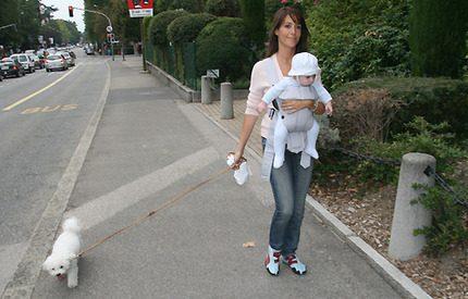 Bildspel! Marie och Joachim tog med sig Henrik till Genève