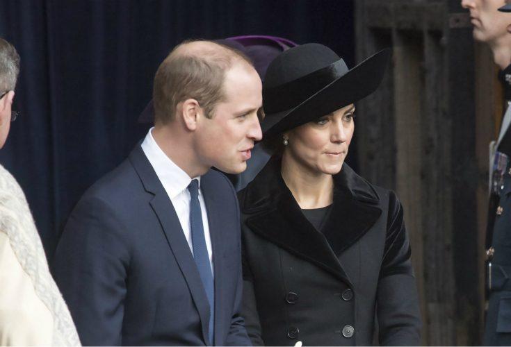 William och Kate stöttade nära vännen i sorgen