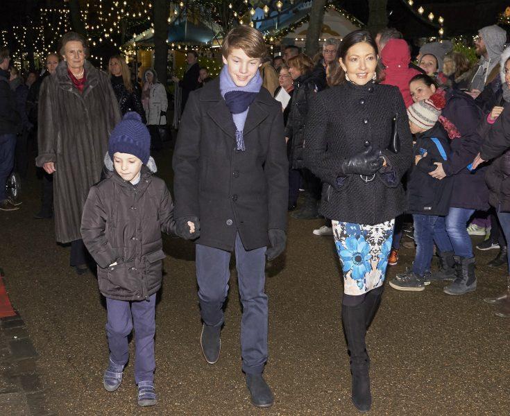 Grevinnan Alexandra, prins Felix, prins Henrik