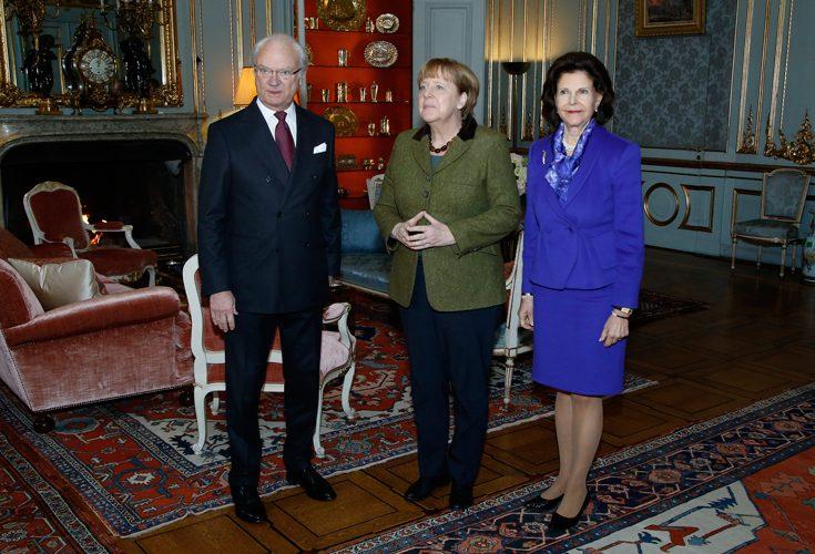Dagens mäktiga möte – Angela Merkel besökte kungaparet