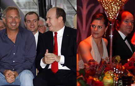 Furst Albert firade med Victoria och Kevin Costner