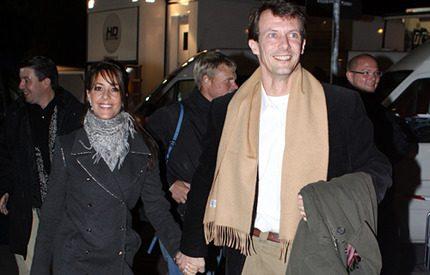 Joachim och Marie hejade fram Danmark till seger
