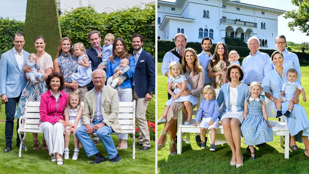 0d96b338f154 Kungliga familjebilden nu och då | Svensk Damtidning