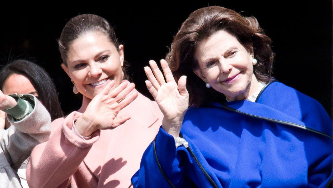 Kronprinsessan Victoria och drottning Silvia