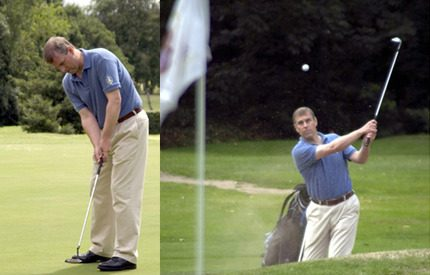 Prins Andrew kan nu ta sig en golfrunda i trädgården