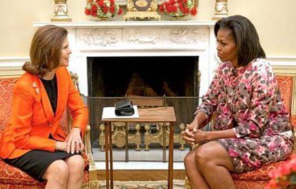 Drottning Silvia och Michelle Obama pratade droger