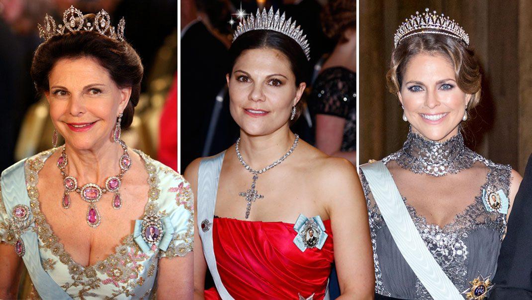 Titta in i kungligheternas smyckeskrin inför Nobel!