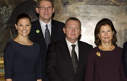 Kronprinsessan Victoria bjöd Nordens statsministrar på lunch på slottet