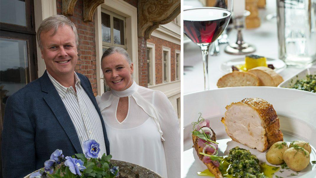Charlotte och Wilhelm Tham bjuder på närodlat i vacker slottsmiljö