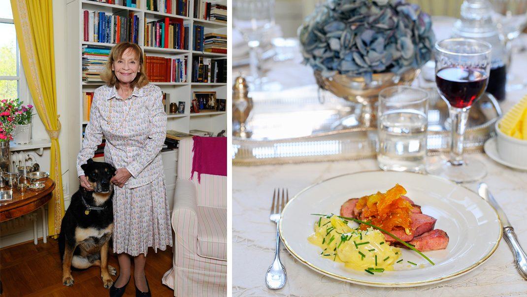 Monica Bonde bjuder på kunglig middag: