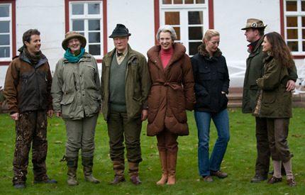 Drottning Margrethe och Carina Axelsson på höstjakt i Berleburg