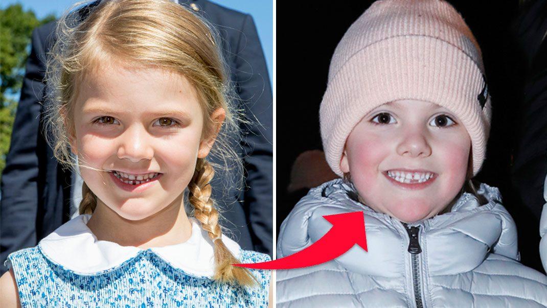 Prinsessan Estelles lycka – har tappat en tand!