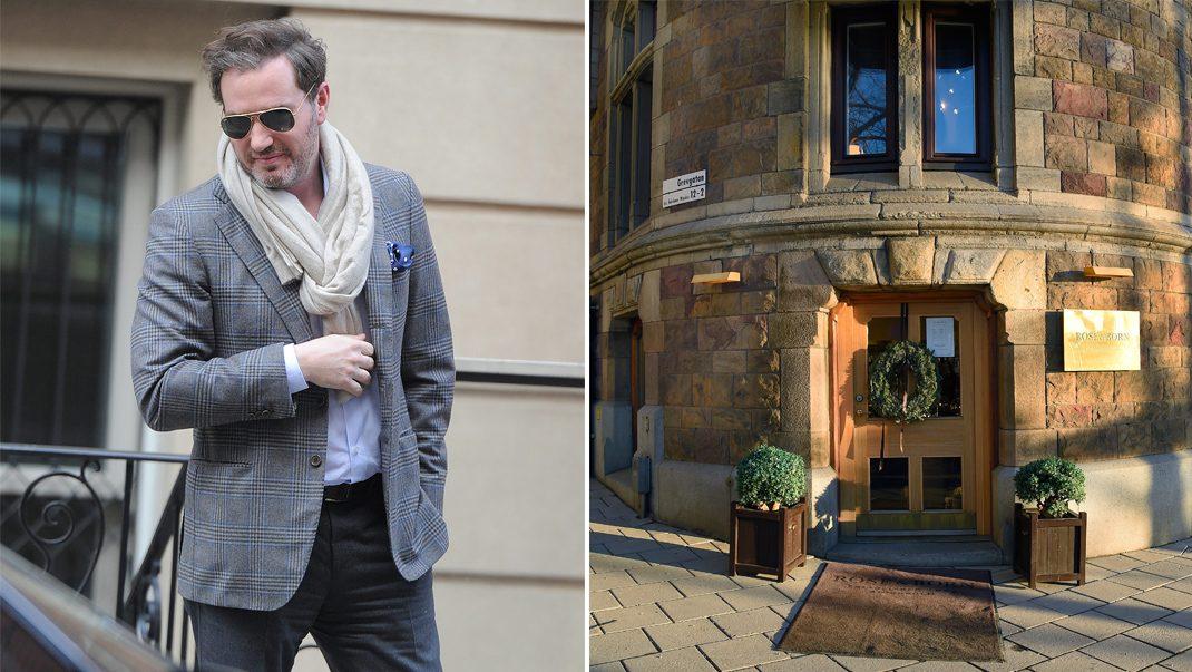 Chris O'Neill handlar kostymer på Rose & Borne