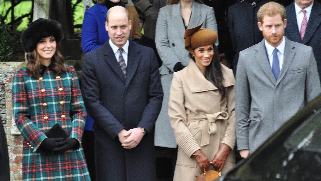 Då jobbar Meghan och Harry med Kate och William för första gången
