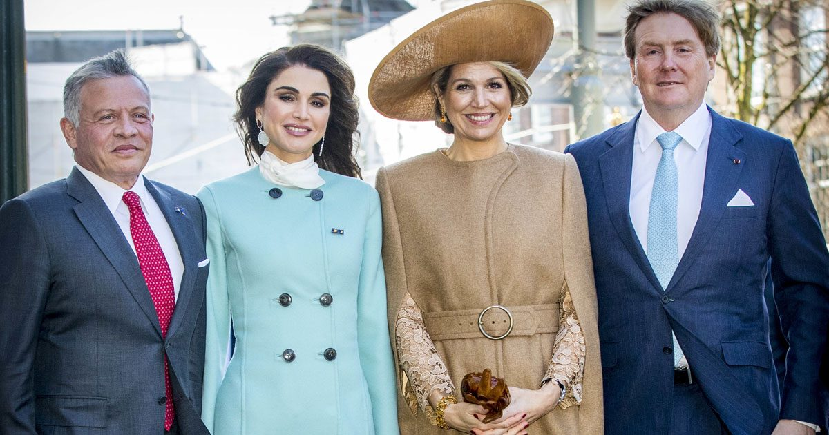 Bildextra! Máxima och Willem-Alexander tog emot kungaparet Rania och Abdullah