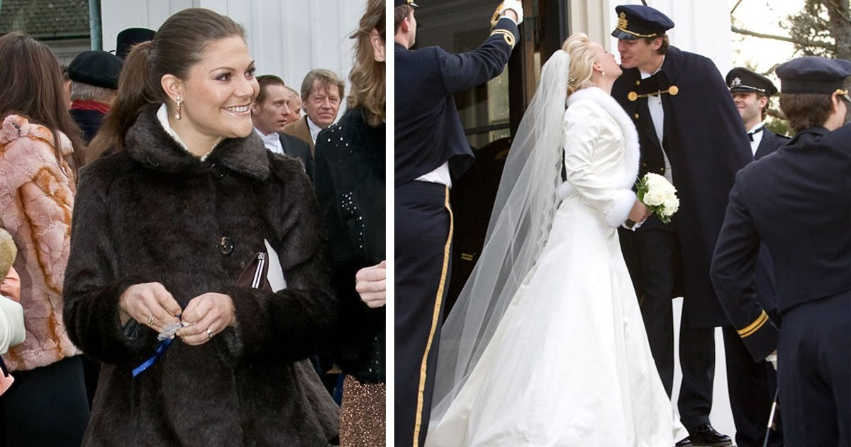 Kungligheterna var på Charlotte Kreuger och Christoffer Cederlunds bröllop.