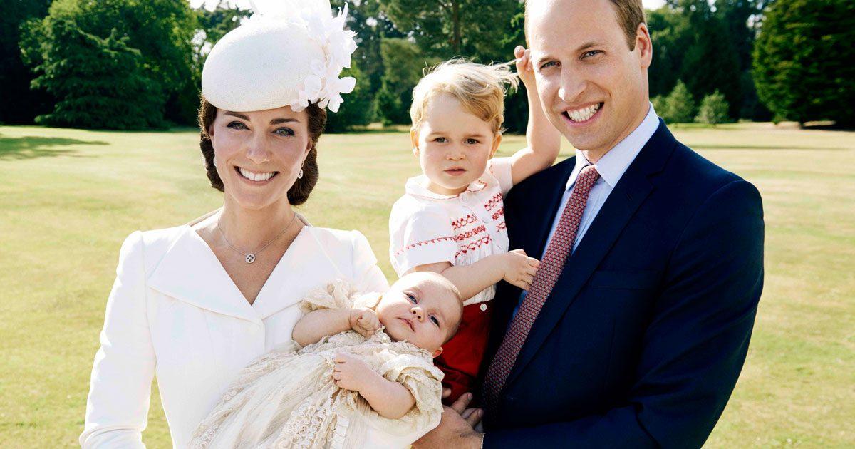 Kate och William med prins George och prinsessan Charlotte.