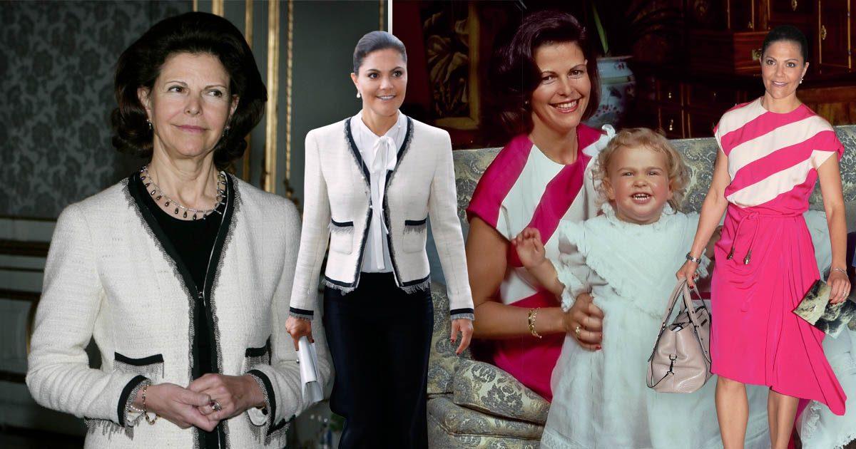 Tre gånger Victoria lånat mamma Silvias kläder